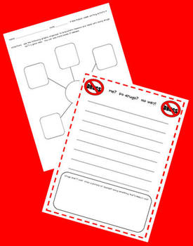 FREE Say No To Drugs Writing Activity