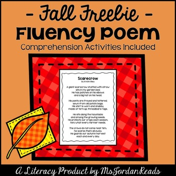 FREE Scarecrow Poem & Activities