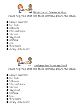 FREE Scavenger Hunt for Meet the Teacher Day
