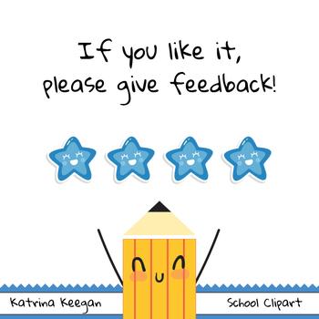 FREE School Clip Art - Katrina Keegan Clips - BIG SET (48 images clipart )