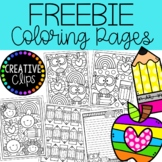 FREE School Coloring Pages (+writing papers) {Made by Crea