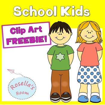 FREE School Kids Clip Art