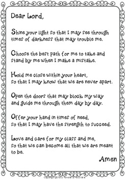 *FREE* School Prayer ~ Back to school, beginning of a term, class liturgy!