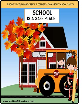 FREE School Safety Coloring Book and Social Story