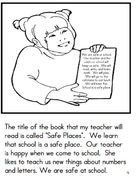 FREE School Safety Coloring Book and Social Story by Autism Educators