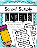 FREE School Supply Labels