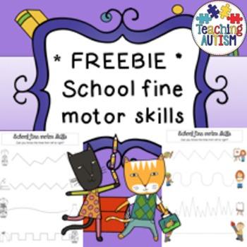 Free School Theme Fine Motor Worksheets