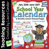 FREE School Year Calendar (2016 - 2017)