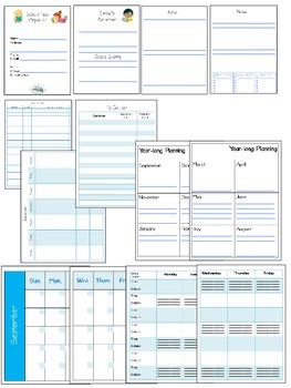 Planner FREE School Year Teacher Planner in both Color and Black & White