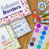 Science Borders: 6 Colorful Styles Clipart - B&W