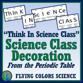 Science Classroom Bulletin Board Decor Middle or High School