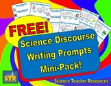 FREE Science Discourse Writing Prompts Mini-Pack