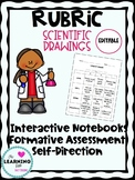 FREE Science Drawing Rubric Editable: Assessment, Notebook