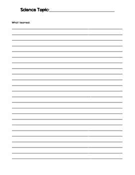 FREE Science Notebooking Pages
