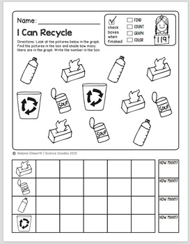 FREEBIE! NO-PREP Kindergarten Science Doodle Printables