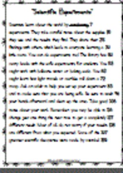 FREE Science-Scientific Experiments-Assessment, Writing, and Exit Ticket