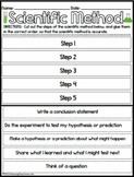 {FREE} Scientific Method Order Activity