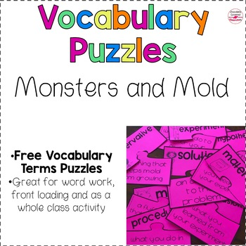 FREE Scientific Method and Mold Vocabulary Puzzles