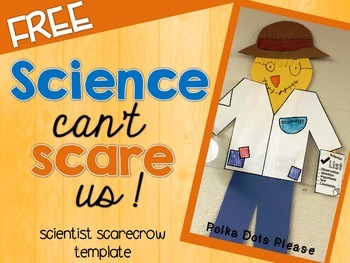 FREE Scientist Scarecrow Template
