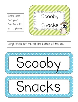 *FREE* Scooby Snacks Magnet Incentive Board