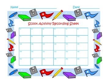 FREE Scoot Activity Template