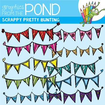 Scrappy Pretty Bunting / Banner / Garland