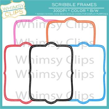 FREE Scribble Frames Clip Art