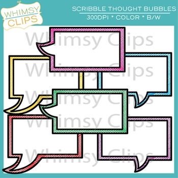 FREE Scribble Thought Bubble Clip Art