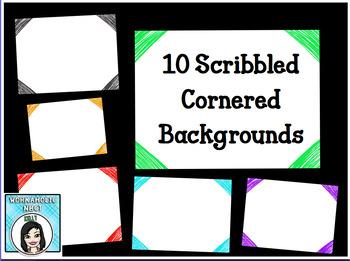 FREE Scribbled Chalk Corner Backgrounds