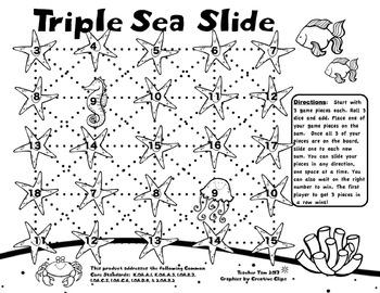 FREE Sea Slide Addition Games