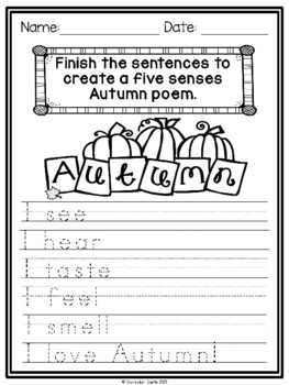 FREE Seasonal Writing Prompts {K-2} NO PREP!