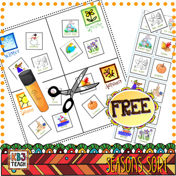 FREE Seasons Cut & Paste Activity (Science Centers)