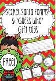 FREE - Secret Santa Slips and Guess Who Gift Tags
