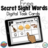 FREE Secret Sight Word Spelling Practice: Boom Cards™ for