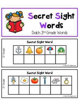FREE Secret Sight Words - 3rd Grade