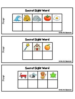 Secret Sight Words - Primer