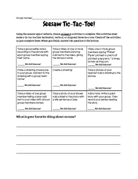 FREE Seesaw Learning Journal Introduction Activity