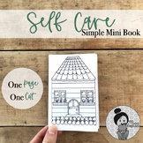 FREE Self-Care Mini-Book Coloring Page Distance Learning