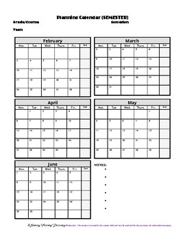 FREE Semester 2 2019-2020 Teacher Semester Planner by Literacy Mastery Discovery