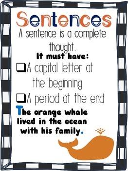 FREE Sentence Anchor Chart