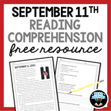 September 11th Reading Comprehension and RACE Strategy Writing Activity FREE