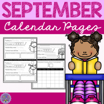 September Calendar Pages