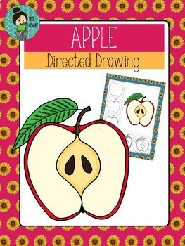 FREE Back to School Art (Apple Directed Drawing)