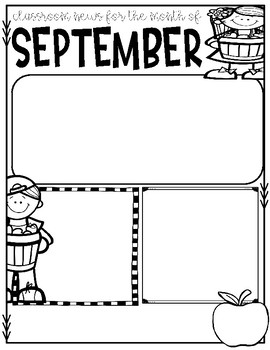 FREE-September Journal, Newsletter, Phonics Choices and MORE!