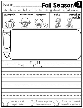FREE September Writing Prompts for Kindergarten to Second Grade