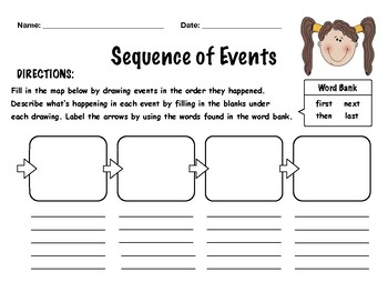 free sequence of events worksheet by carly taylor tpt. Black Bedroom Furniture Sets. Home Design Ideas