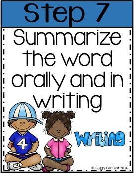 Seven Step Vocabulary Posters for ELLs