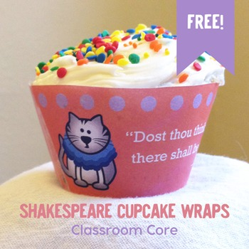 FREE Shakespeare Cupcake Wrap Templates