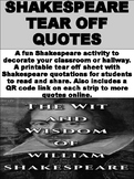 FREE Shakespeare Tear Off Quotes