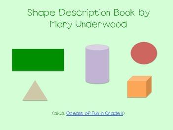 FREE Shape Description Book
